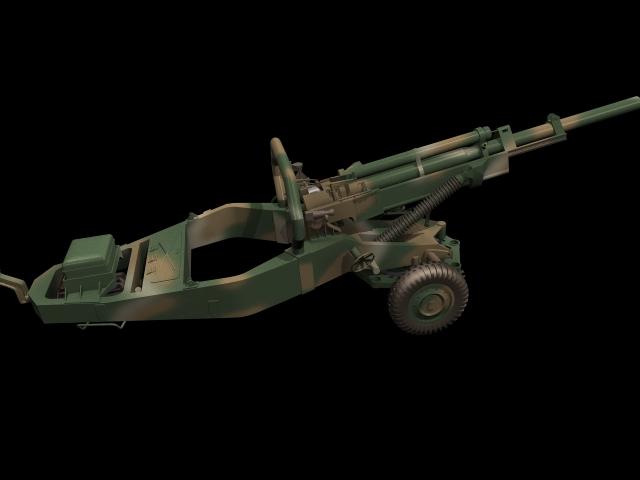 M102 Howitzer 3d Model 3dsmax Files Free Download