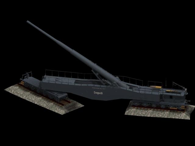 Leopold Railway Gun 3d Model 3dsmax Files Free Download