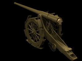 Cannone da 149A heavy gun 3d model