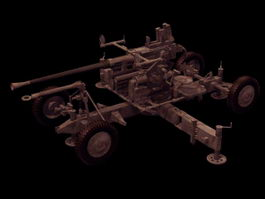 Bofors anti-aircraft gun 3d model