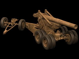 203 mm howitzer 3d model