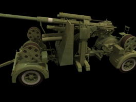 German anti-aircraft gun 3d model