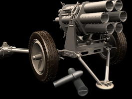 Nebelwerfer rocket launcher 3d model