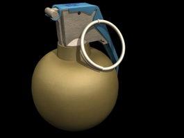 Mills bomb 3d model