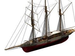 Amphitrite sailing ship 3d model