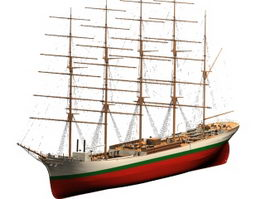 Large sailing vessel 3d model