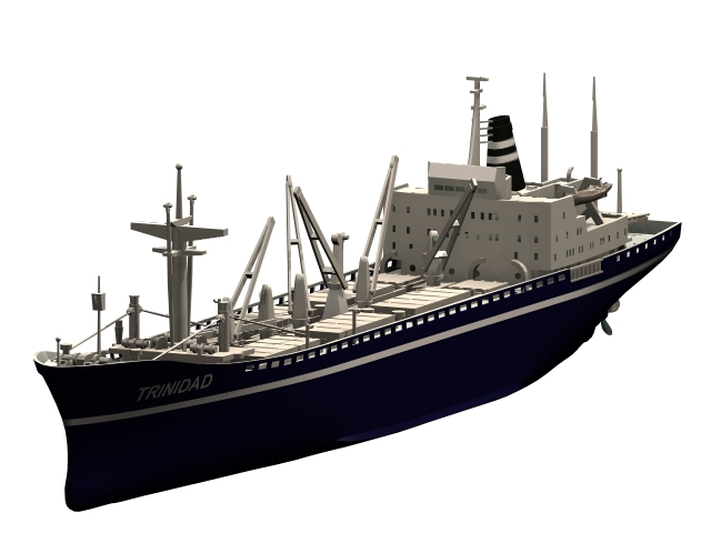 Trinidad Cargo Ship 3d Model 3dsmax Files Free Download