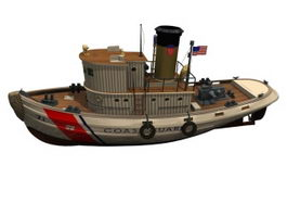 Coast guard vessel 3d model