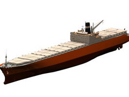 Toyama container ship 3d model