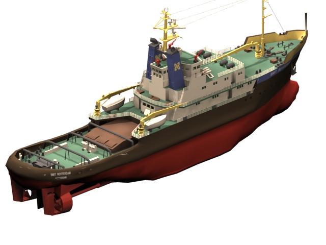 Tugboat Smit Rotterdam 3d Model 3dsmax Files Free Download
