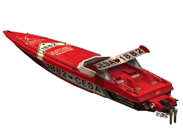 Offshore powerboat racing 3d model - CadNav