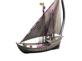 Nina caravel 3d model