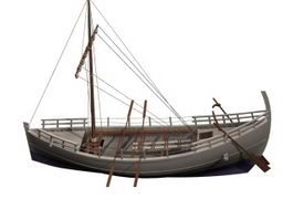 Ancient Greek merchant ship 3d model