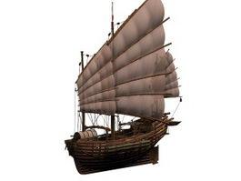 Junk sailing vessel 3d model
