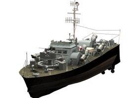 Vosper motor torpedo boat 3d model