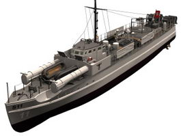 German E boat 3d model