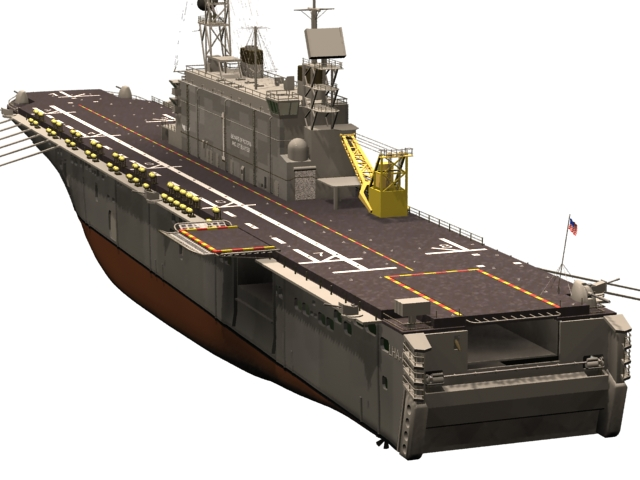 USS Tarawa amphibious assault ship 3d model