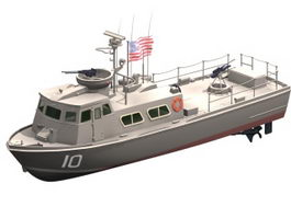 Swift patrol boat 3d model