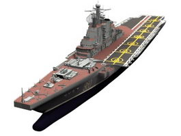 Soviet aircraft carrier Kiev 3d model