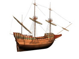 Mayflower ship 3d model