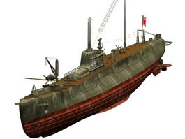 Japanese Type B1 submarine texture