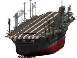 Shinano aircraft carrier 3d model