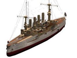 SMS Scharnhorst cruiser 3d model