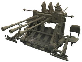 Type 96 anti-aircraft gun 3d model