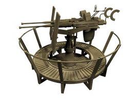 Oerlikon AA gun 3d model