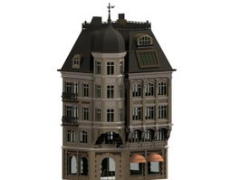 Bankhaus towering building 3d model