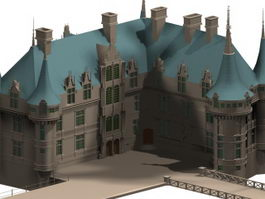French renaissance architecture 3d model