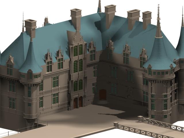 French Renaissance Architecture 3d Model 3dsmax Files Free