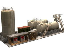 Industrial diesel pompstation 3d model