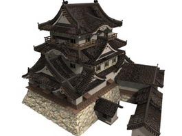 Japan Hikone castle 3d model