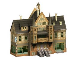 Historic hotel building 3d model