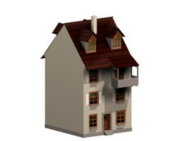 Historic building casita 3d model