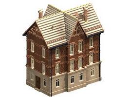 Italian residential house 3d model