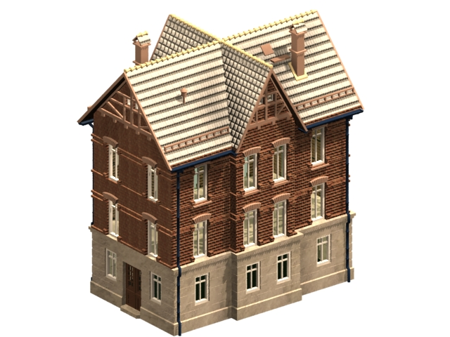 Highly Detailed Italian Residential House Free 3D Model Available In 3ds  Max, Jpg And Tga Textures Included. Very Realistic 3d House Model Of  Italian ...