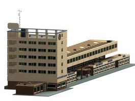 Germany railway station 3d model