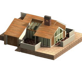 One-story dwelling house 3d model