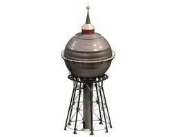 Sphere water tower 3d model