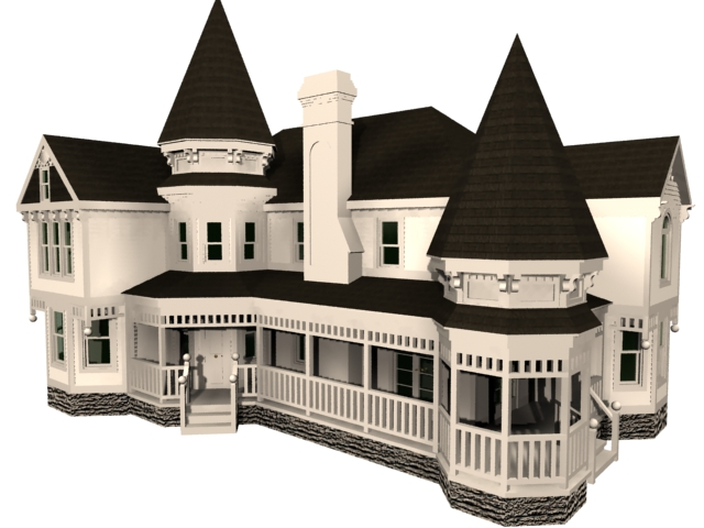 Victorian house 3d model 3dsmax files free download House 3d model