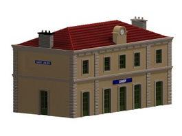 Saint-Julien Railway station 3d model
