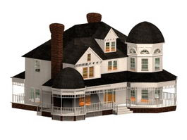 Victorian style residence 3d model