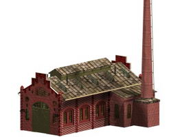 Factory building workshop 3d model