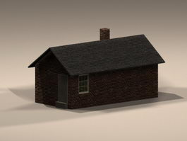 Traditional architecture smokehouse 3d model