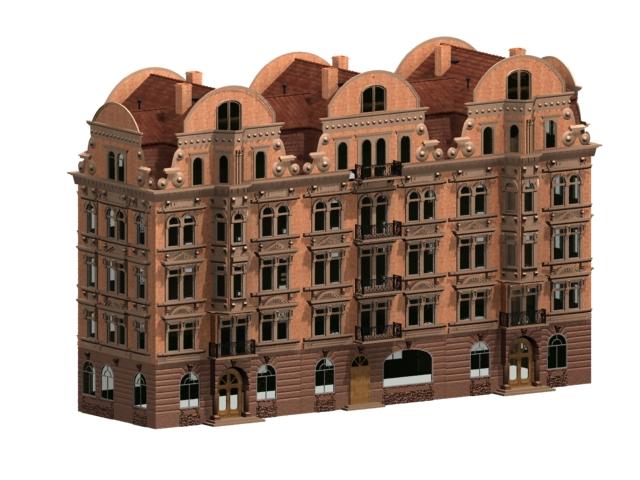 Marvelous Europe Terraced House 3D Model