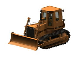 Crawler bulldozer 3d model