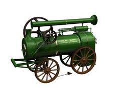 Burrell tractor 3d model