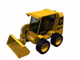 JCB backhoe loader 3d model